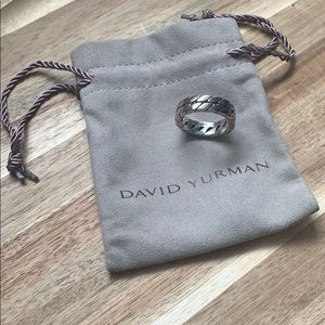 {David Yurman} Men's Sterling Silver Chevron Ring